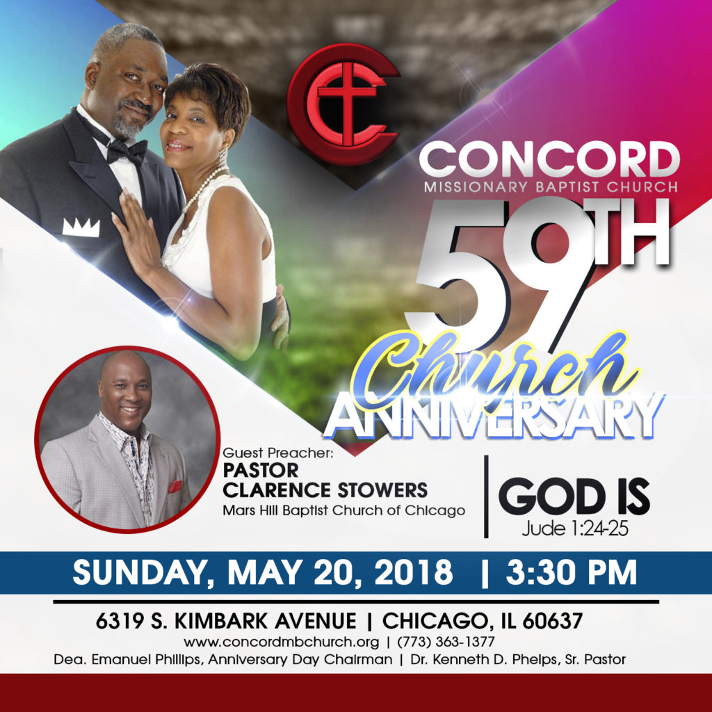 59th Year Church Anniversary